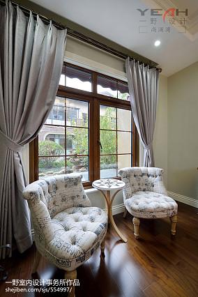 美式窗台窗帘设计