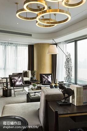 2018精选120平米中式别墅客厅效果图片欣赏