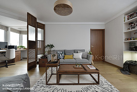 质朴100平现代二居客厅效果图