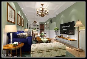 2018精选美式小户型客厅装修实景图片