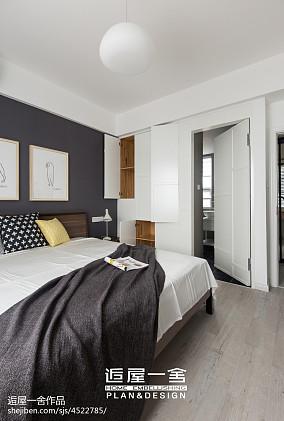 北欧风格卧室隐形门装修设计