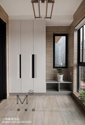 精选面积113平中式四居阳台装饰图片欣赏