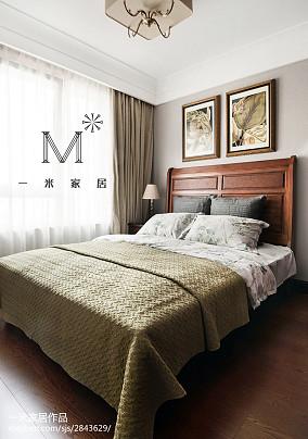 热门面积105平美式三居卧室欣赏图