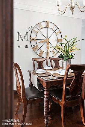 热门面积108平美式三居餐厅装饰图片大全