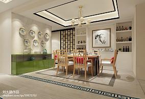 中式设计80平米装修客厅