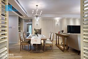 热门109平米三居餐厅混搭欣赏图片大全