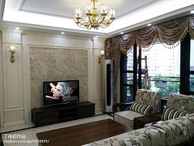 2018精选面积131平简欧四居客厅装修效果图