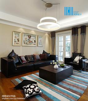 华丽225平简约三居客厅装修图
