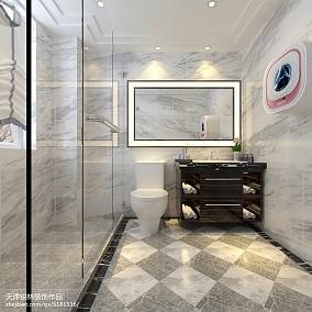 热门132平米现代别墅卫生间实景图