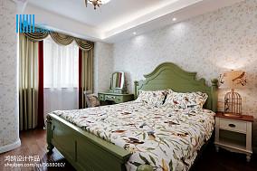精美面积72平美式二居卧室实景图片欣赏