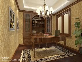 精选123平米欧式别墅书房欣赏图片大全