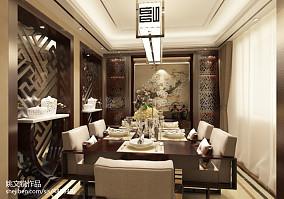2018面积120平复式餐厅中式装修效果图