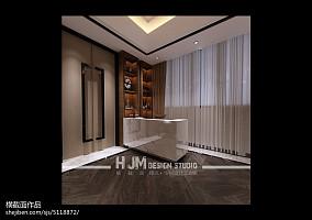 俄罗斯黑白复式卧室设计