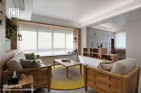 精选大小104平北欧三居客厅实景图