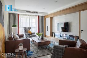 热门面积95平北欧三居客厅装修实景图