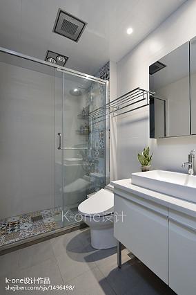 精选78平米二居卫生间简约装饰图片大全