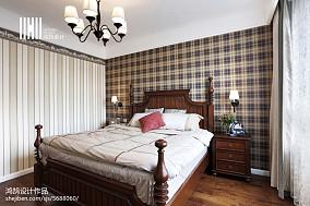 精选面积100平美式三居卧室装修设计效果图