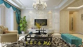 精美92平米三居客厅简欧效果图片大全