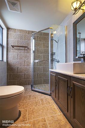 精美124平米混搭别墅卫生间装修实景图