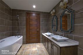 热门面积138平别墅卫生间混搭装修效果图片