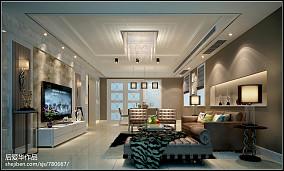 热门面积127平别墅客厅现代效果图片