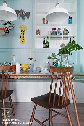 2018精选100平米三居餐厅北欧实景图片