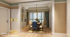 热门100平米三居餐厅美式装修设计效果图片欣赏