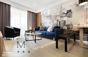 大气93平现代二居装修设计图