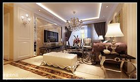 精美100平米三居客厅新古典装修效果图片欣赏