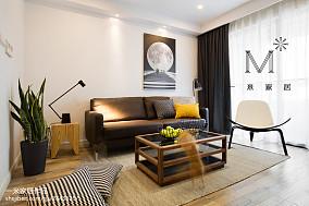 2018精选72平米现代小户型客厅装修实景图