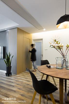 2018精选88平米现代小户型餐厅装修欣赏图片