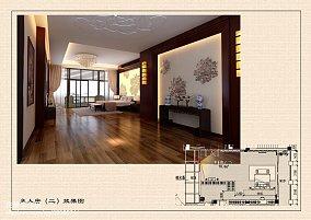 现代中式别墅家装效果图