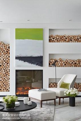 热门面积119平别墅客厅简约装饰图片