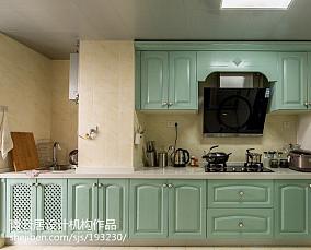 热门面积90平北欧三居厨房效果图片