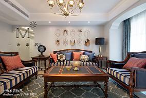 2018精选大小104平美式三居客厅装饰图片