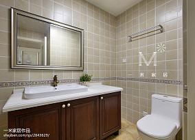 201896平米三居卫生间美式装饰图片大全