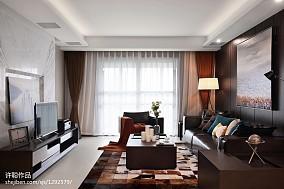 精选面积132平简约四居客厅装修效果图片