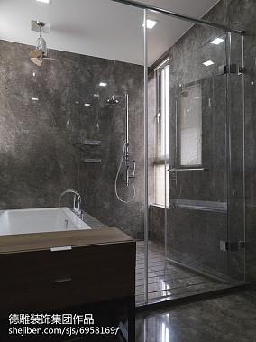 深色瓷砖卫生间装修图片欣赏