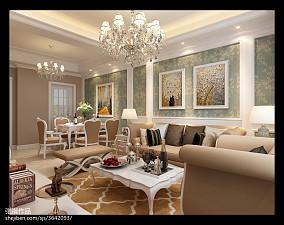 热门83平米二居餐厅美式欣赏图片大全