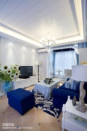 精选面积93平地中海三居客厅装修设计效果图