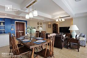 精选120平米四居餐厅美式装修设计效果图片