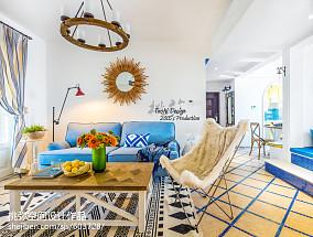 热门地中海三居客厅装修设计效果图片