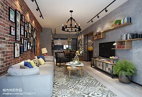 热门面积97平三居客厅实景图