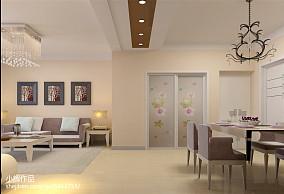 【新合国际装修】91平米两室两厅现代简约风格装修效果图_2409385