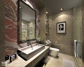 热门135平米中式别墅卫生间装修图片
