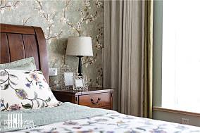 精美面积92平美式三居卧室效果图片欣赏