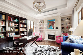 精选144平方混搭别墅书房装修实景图片
