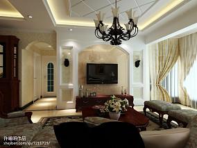 70平米二居客厅欧式装修欣赏图片大全
