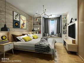 热门90平米二居卧室北欧欣赏图片大全