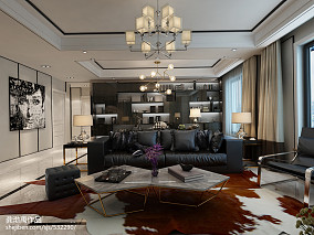 92平大小客廳三居現代裝修設計效果圖